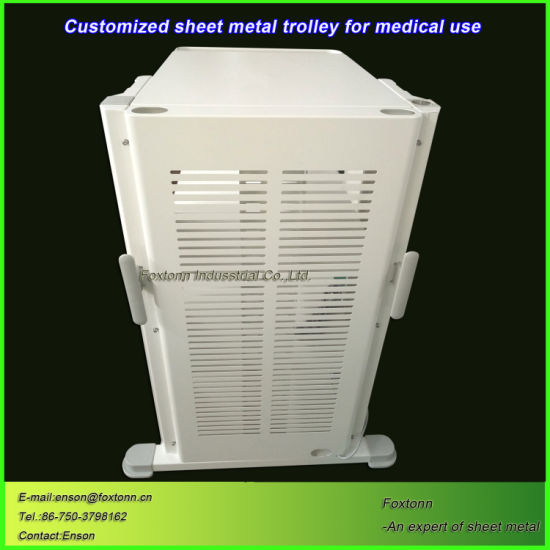Sheet Metal Fabrication Hospital Trolley Cart for Medical Equipment