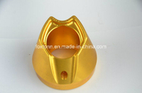 OEM CNC Machining Motor Parts with Gold Anodization