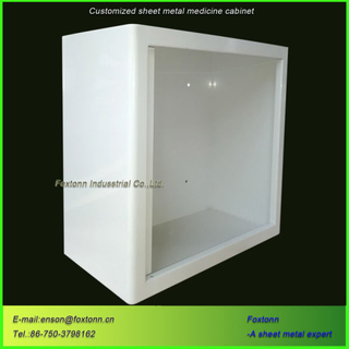 Sheet Metal Parts Medical Storage Cabinet by CNC Machining