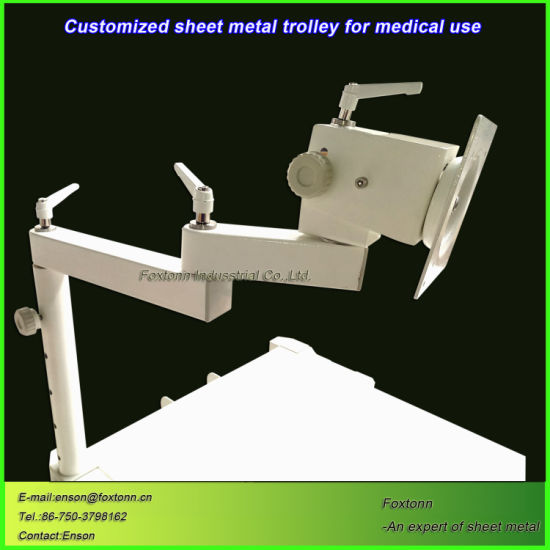 Customized Sheet Metal Fabrication Hospital Medical Trolley for Emergency