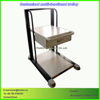 Sheet Metal Fabrication Multi-Functional Medical Trolley for Hospital Equipment