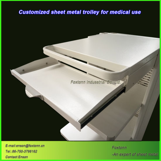 Custom Sheet Metal Fabrication Medical Trolley for Hospital Device
