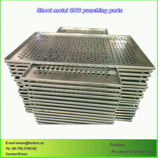 Sheet Metal Fabrication Stamping Steel Parts with Mesh