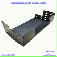 Powder Coated Galvanized Sheet Metal Parts by Laser Cutting